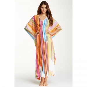 [Natori]V-Neck Caftan Pajama Dress/당일배송