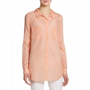 [CALYPSO St. Barth] KESARI COTTON SILK BUTTONDOWN PINK/당일배송