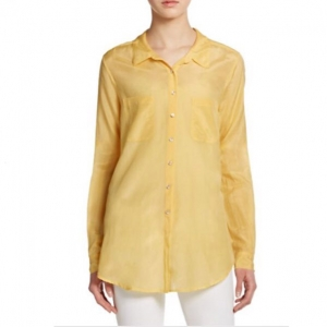 [CALYPSO St. Barth] KESARI COTTON SILK BUTTONDOWN YELLOW/당일배송
